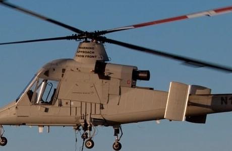 """Вертолетами с такой схемой расположения несущих винтов занималась только одна фирма в мире -  """"Каман """"(США)."""