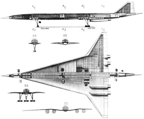 и основные данные Ту-244.