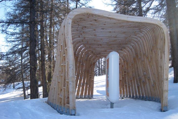 Во французских Альпах появились модные сооружения