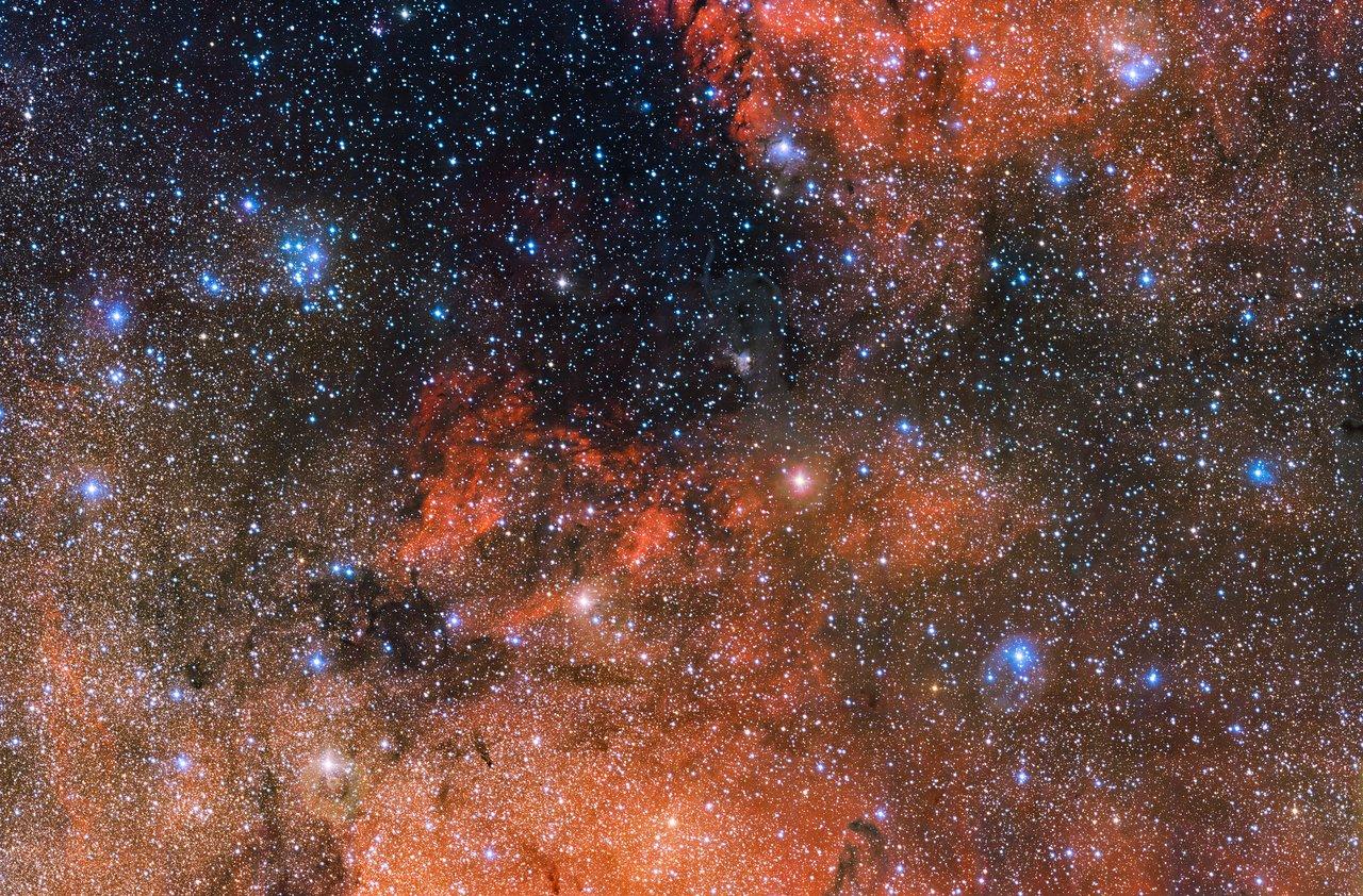 Звёздное скопление Messier 18, фото изчилийского телескопа