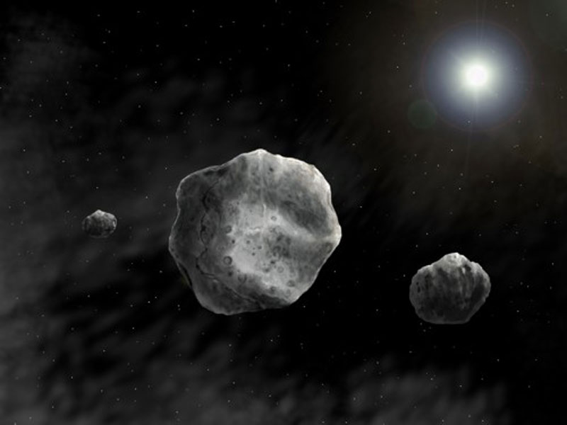 Approaching asteroid 2012