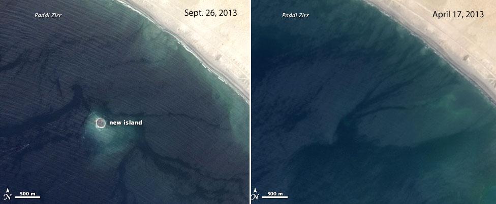После землетрясения в Пакистане появился новый остров