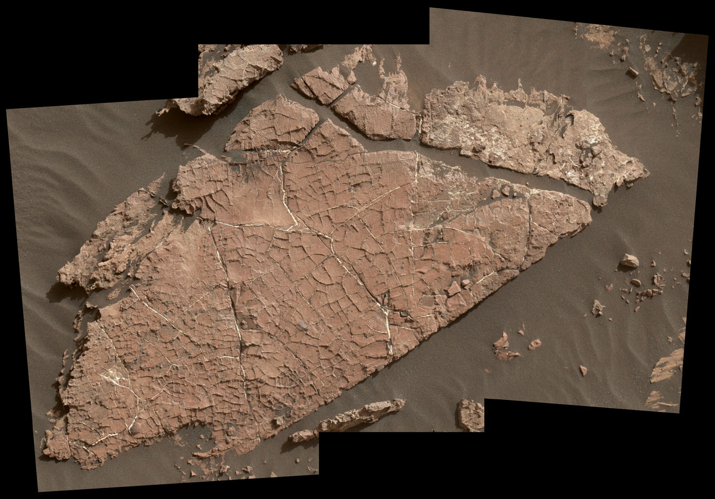 Грязевые трещины наМарсе сообщают о наличие воды впрошлом— Ученые