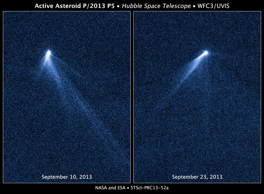 Обнаружен астероид с шестью хвостами