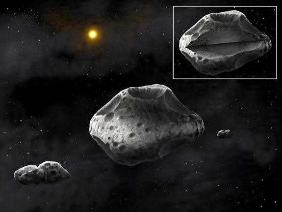 Получены снимки астероида Сильвия