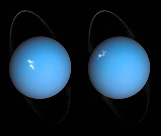 Снимок: «Хаббл» замечает полярные сияния на Уране