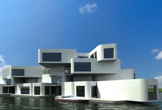 Первый в мире жилой комплекс на воде