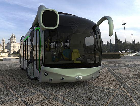 Например таким видят дизайнеры автобус будущего.  Ну чем не муравей?
