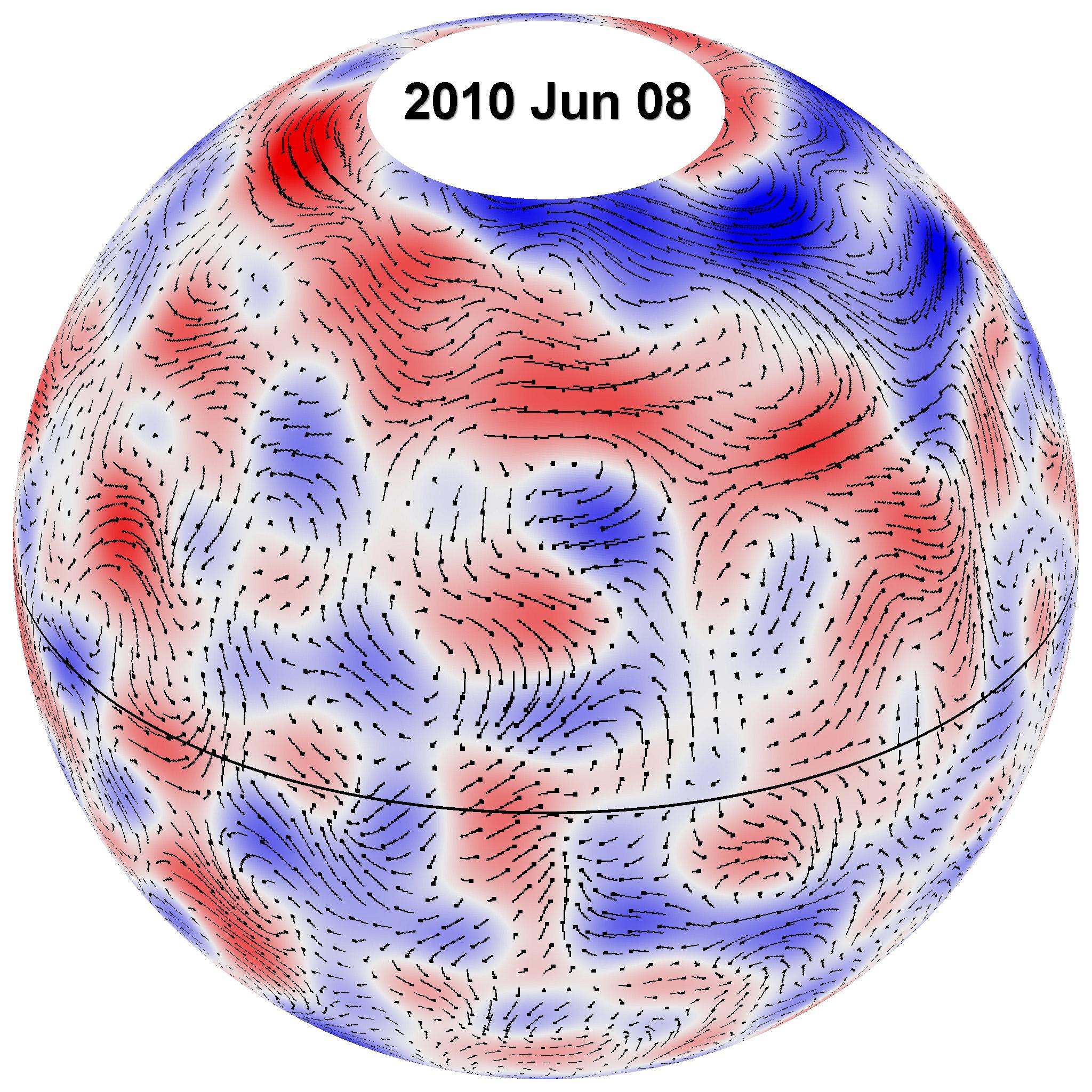 Обнаружены гигантские плазменные спирали на Солнце