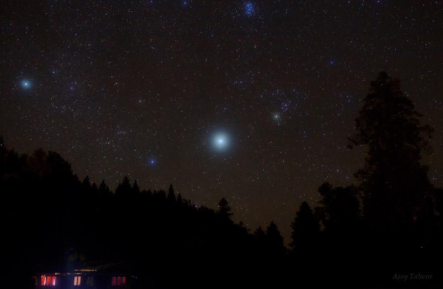 Одна звезда на небе фото