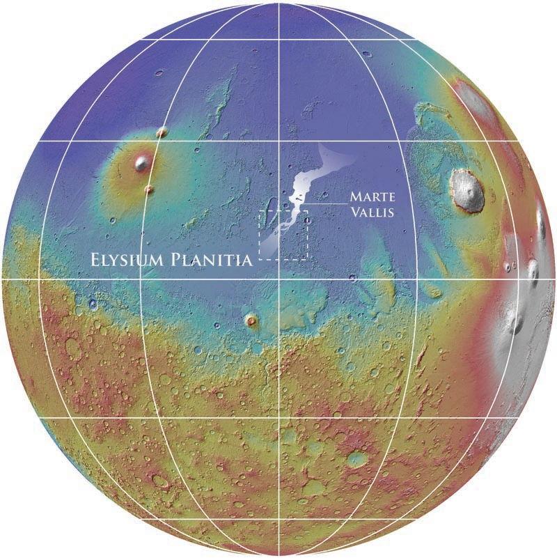 Древнейшая гидросистема Марса в 3D