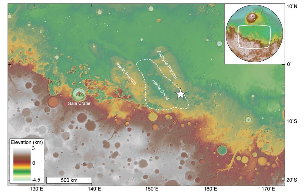 Древняя марсианская река впадала в огромный океан