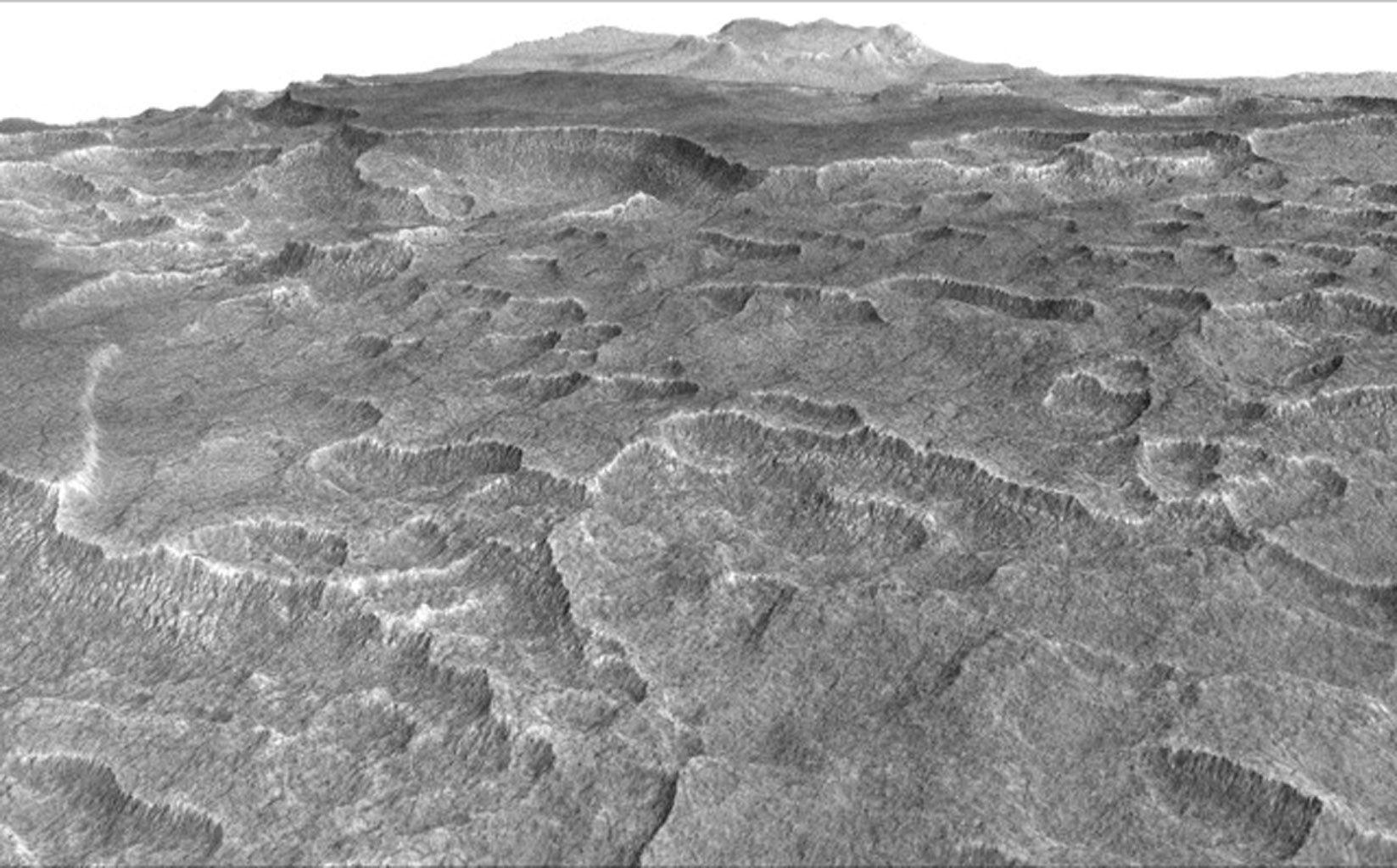 Ученые обнаружили наМарсе огромное замерзшее море