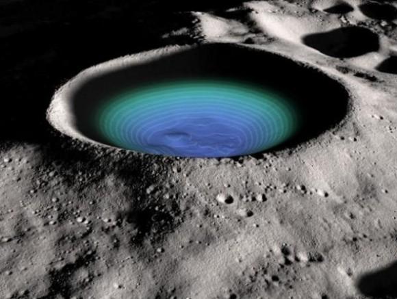 Лунные кратеры, скрывающиеся в тени