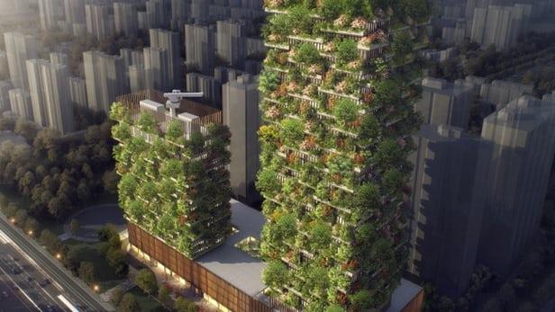 ВНанкине появится 1-ый вАзии «Вертикальный лес»