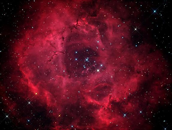 Новая фотография туманности Розетка от астрофотографа любителя