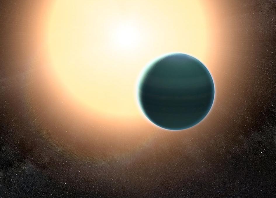 Ученые  обнаружили «теплый Нептун» соблаками изсоли