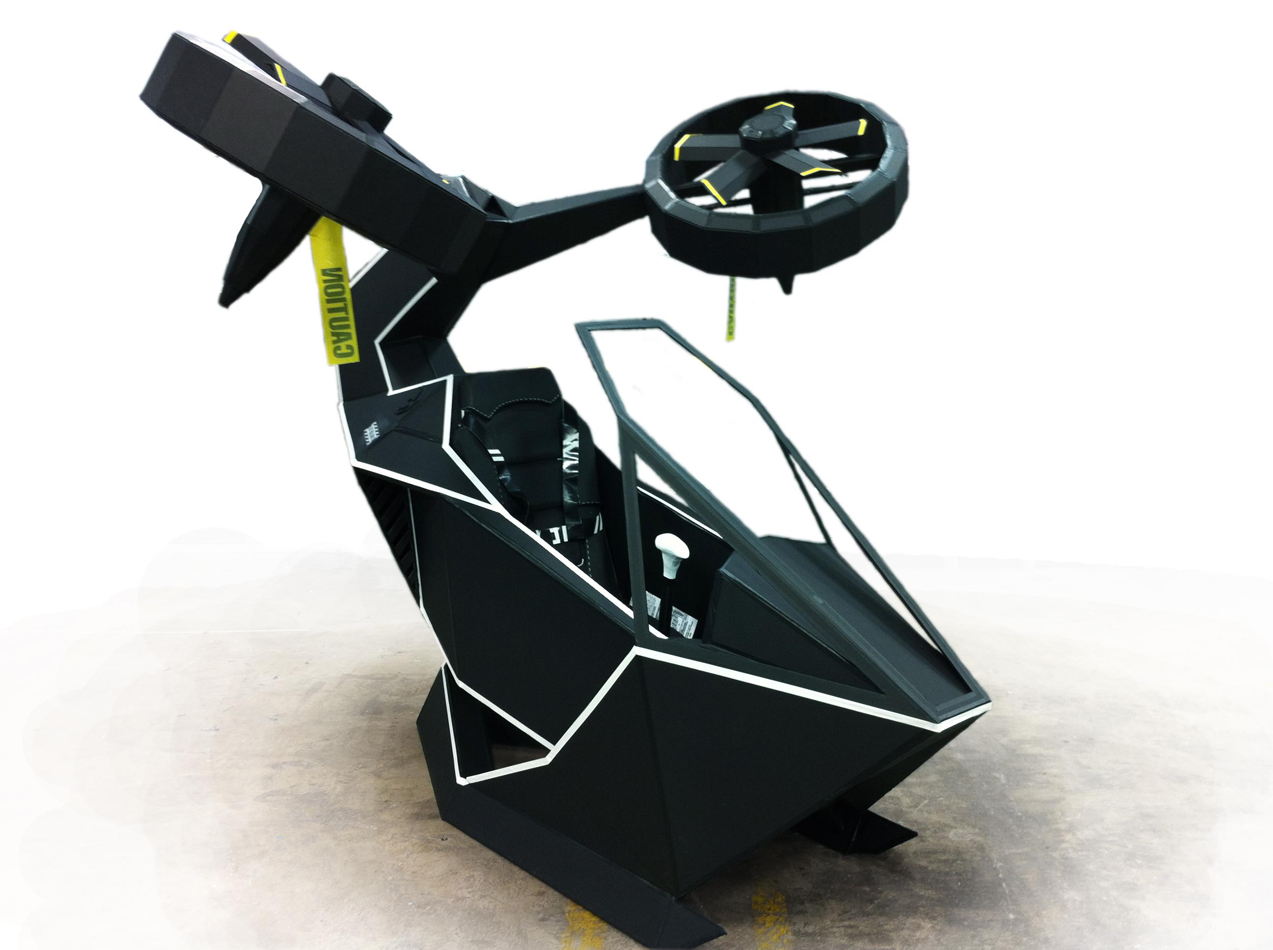 Персональный вертолет в футуристическом стиле
