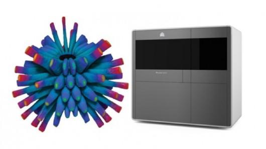 3D-принтер ProJet 4500 создает разноцветные пластиковые элементы