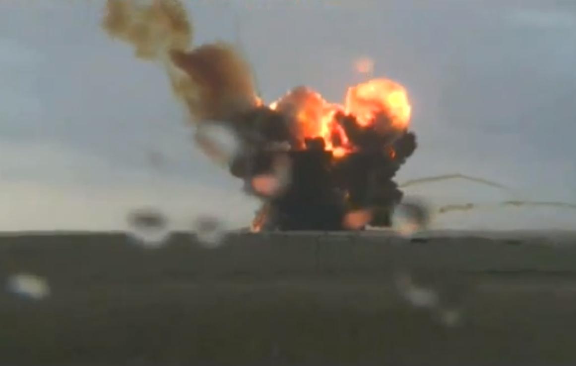 Вчера поздно вечером взорвалась российская ракета