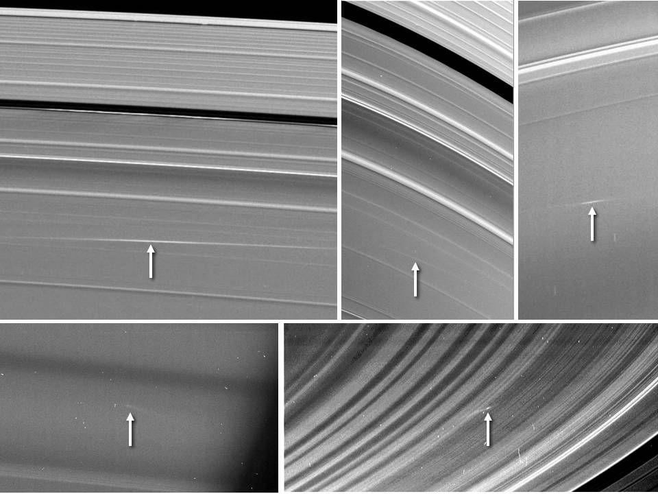 Кольца Сатурна атакуют космические скалы
