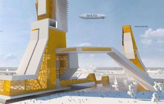 Концепт высокотехнологичного небоскреба будущего