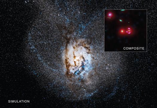 Астрономы открыли галактику, вкоторой каждый год появляются тысячи звезд