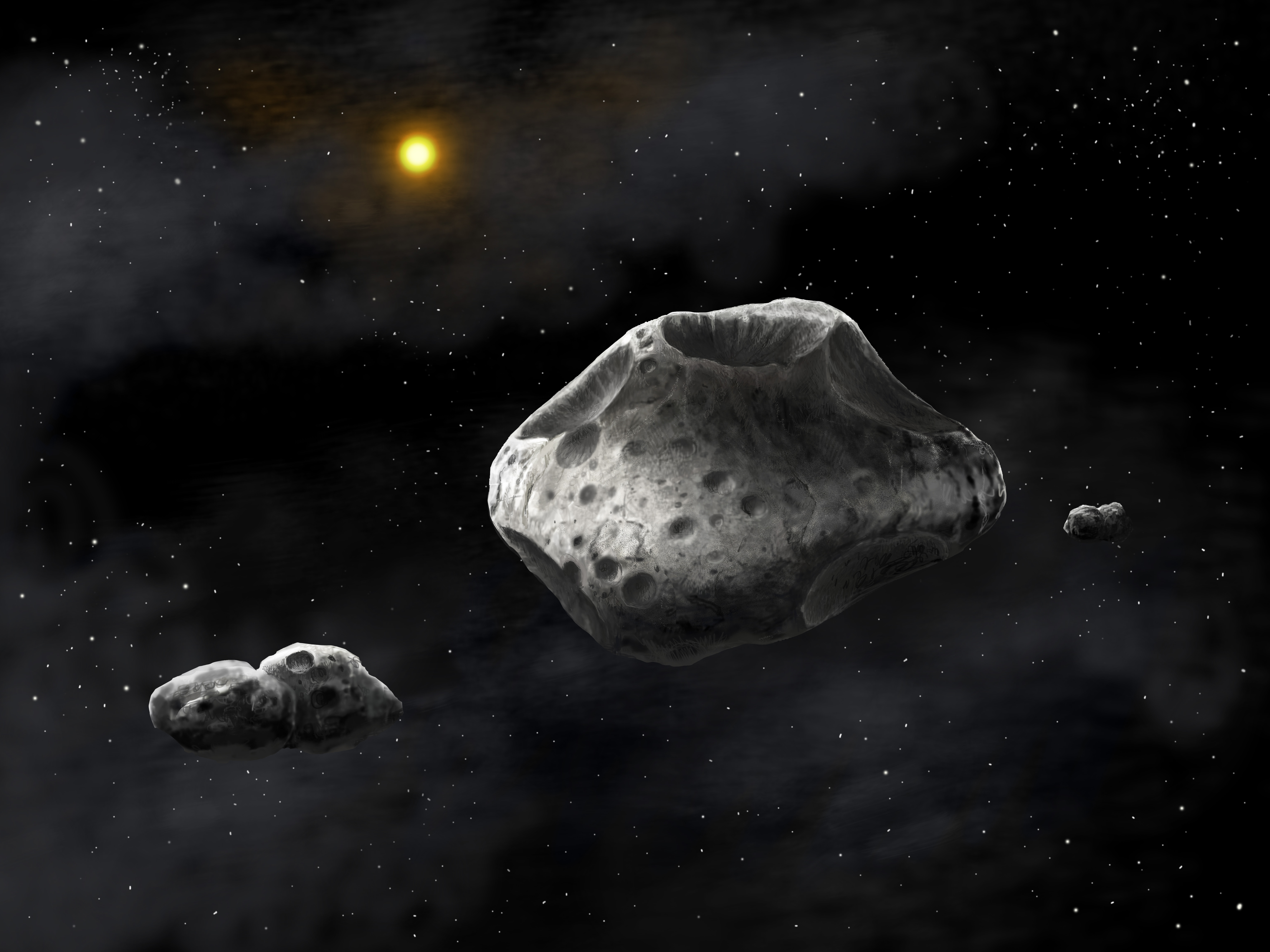 the asteroids in space - HD 1200×800