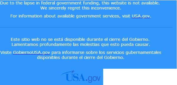 Сайт NASA прекратил свою работу