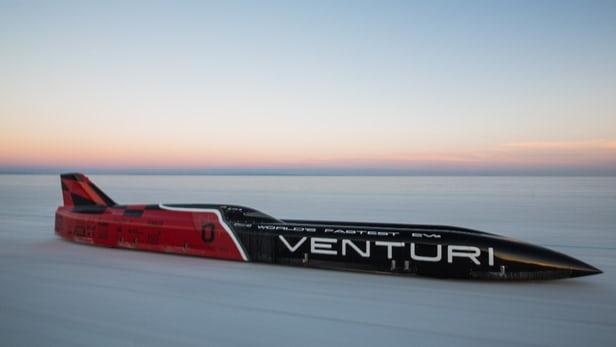 Вентури устанавливает новый рекорд скорости для электрических транспортных средств