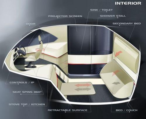 Разработанный для компании Volvo, футуристический грузовик работает от солнечной батареи, размещенной на всей крыше.