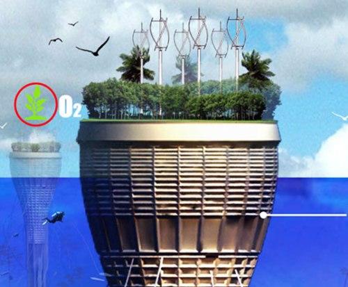 Подводный небоскрёб – город в море