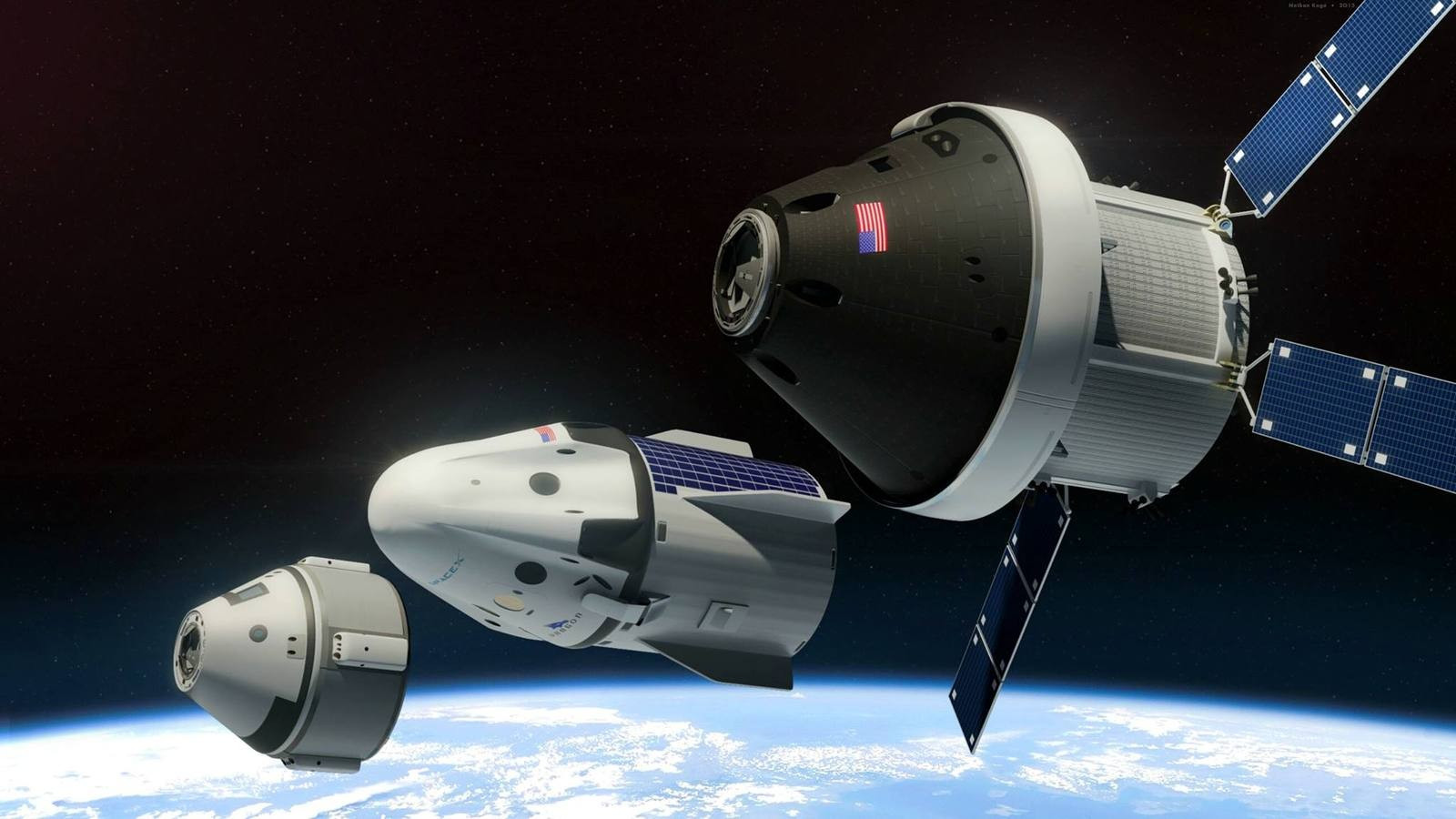 dragon spacecraft video - HD 2048×1152